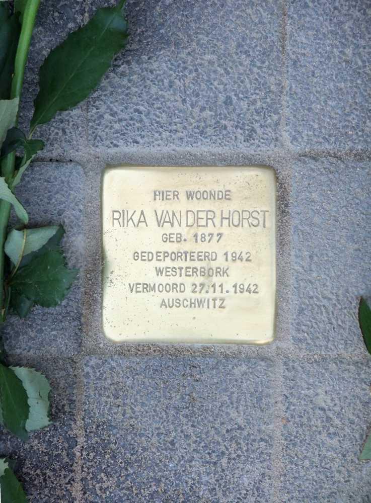 Stolperstein Rika van der Horst
