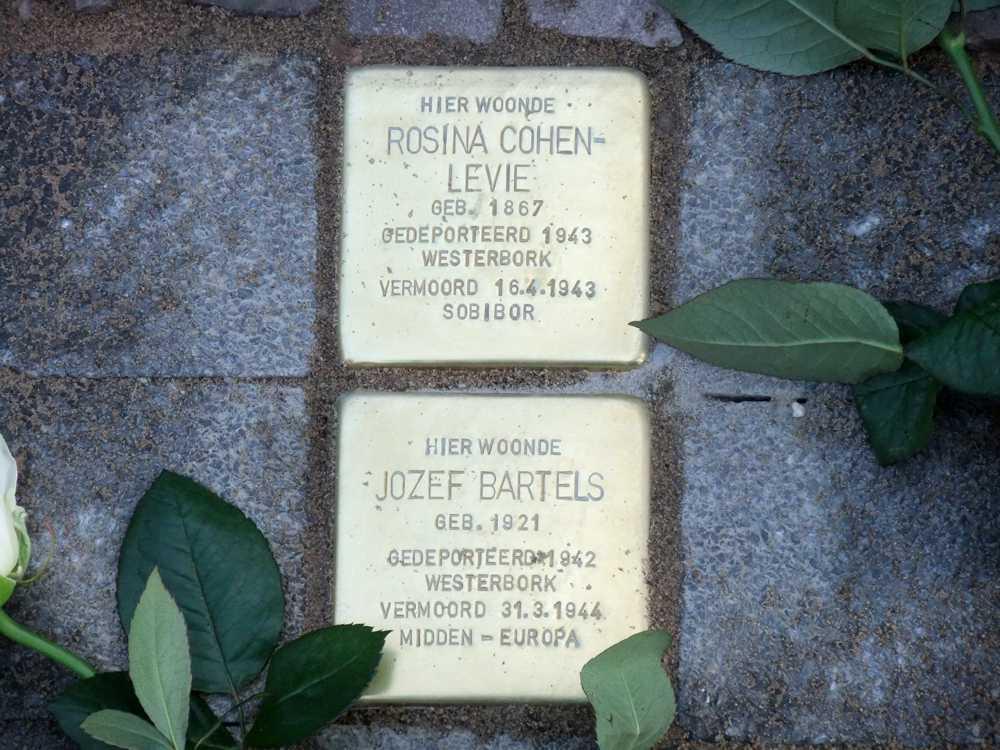 Stolpersteine Rosina Cohen-Levie en Jozef Bartels